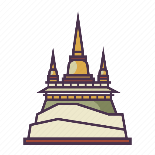 architecture, culture, golden mount, religion, temple icon