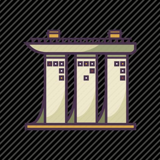 architecture, building, landmark, marina bay, singapore icon