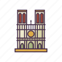 architecture, catholic, landmark, notre dame cathedral, religion icon