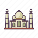 architecture, monument, palace, taj mahal, travel icon