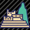 archaeological, cuzco, machu picchu, peru icon