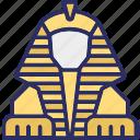 giza, egypt, history, great sphinx icon