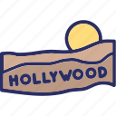 california, hollywood sign, los angeles, mount lee icon