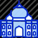 agra, india, taj mahal, temple icon