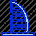 burj al arab, dubai, hotel, skyscraper icon