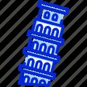 tower of pisa, italy, pisa, europe icon