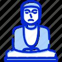 buddha, great buddha of kamakura, japan, kamakura icon