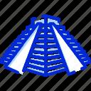 chichen itza, pyramid, mexico, landmark icon