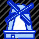holland, kinderdijk, netherlands, windmills icon