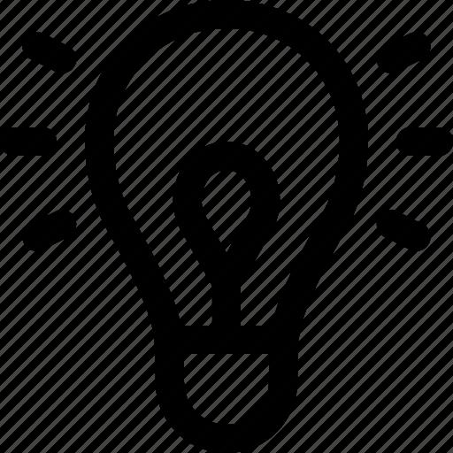 energy, heat, idea, incandescent, lamp, light, light bulb icon