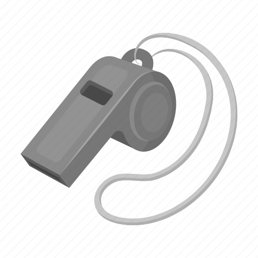 attribute, fan, game, instrument, sport, whistle icon