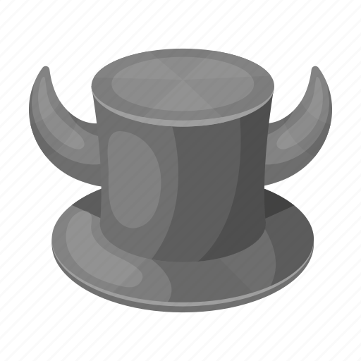 attribute, fan, football, game, hat, horns, sport icon