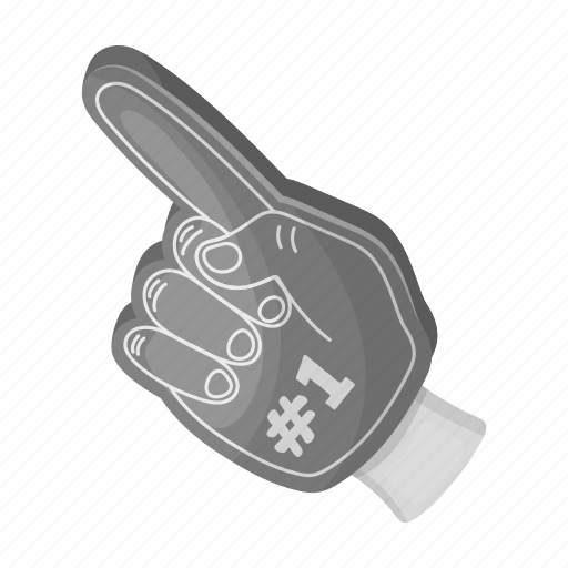 attribute, equipment, fan, finger, gesture, glove, hand icon