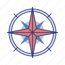 compass, direction, exploration, journey, map, navigation, travel icon