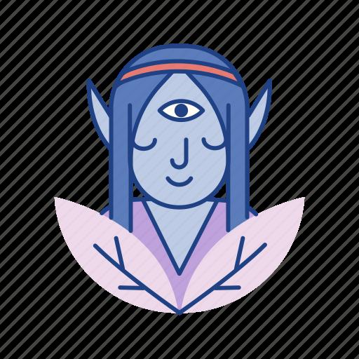 character, elf, fairy, fairytale, fantasy, myth, nymph icon