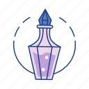 bottle, chemistry, elixir, fantasy, game, magic, potion icon