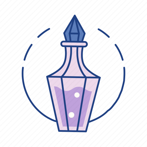 bottle, chemistry, elixir, fantasy, game, magic, potion icon