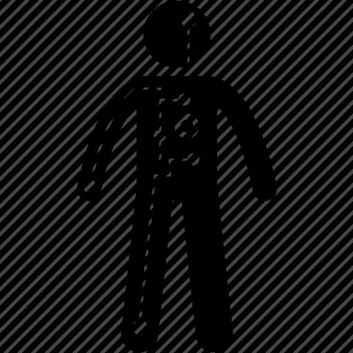 android, body, cyborg, human, humanoid, robot, technology icon