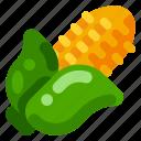 corn, farm, food, health, nature, organic, plant icon