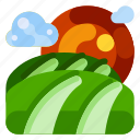 farm, farm land, field, food, nature, plant icon