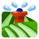 farm, food, irrigation, nature, plant, water icon