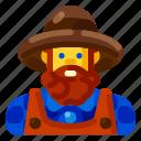 avatar, farm, farmer, male, nature, plant icon