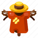 agriculture, farm, field, horor, mystery, nature, scarecrow icon