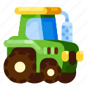 farm, machine, nature, plant, tractor, vehicle