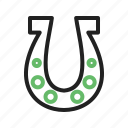 equipment, farm, horse, horseshoe, shape, steel