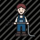 agriculture, garden, gardening, hose, plant, watering, worker avatar icon