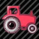 car, cartoon, child, retro, silhouette, tractor, vintage