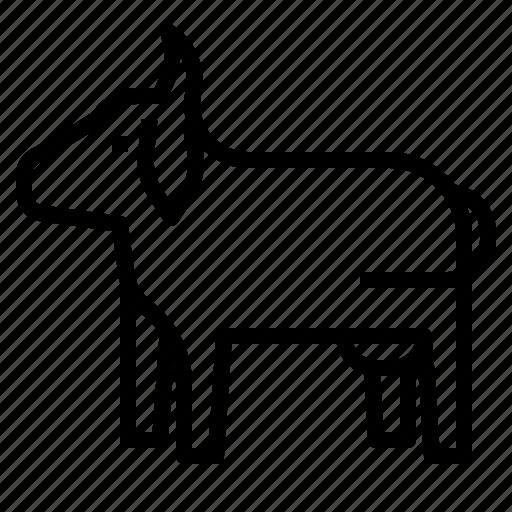Animal, animals, cow, farm, kingdom, mammal, milk icon - Download on Iconfinder
