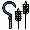 and, construction, farming, gardening, sickle, tools, utensils icon