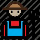 color, farm, farmer, gardener icon