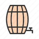 barrel, barrels, empty, farm, food, wheat, wooden icon