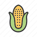 nutrition, maize, food, corn, healthy, vegetable icon