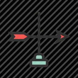 arrow, direction, farm, field, nature, rural, windy icon