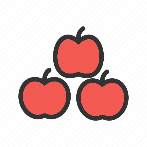 apple, diet, food, fruit, healthy, organic, red icon