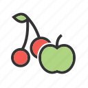 food, fresh, fruit, green, juicy, natural, ripe icon