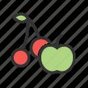 natural, ripe, food, juicy, fruit, green, fresh icon