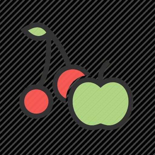 food, fresh, fruit, green, juicy, natural, ripe icon