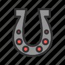 steel, horse, farm, horseshoe, equipment, shape icon