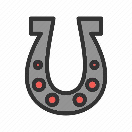 equipment, farm, horse, horseshoe, shape, steel icon