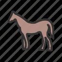 horses, horse, farm, pasture, grass, grazing icon