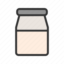 bottle, dairy, farm, jug, milk, organic, plastic icon