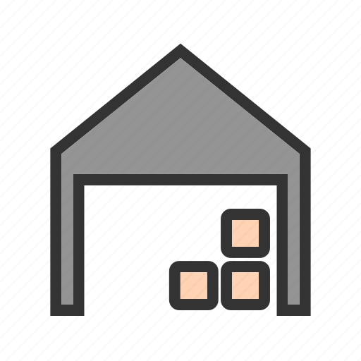 box, distribution, factory, industrial, storage, warehouse icon