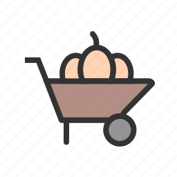 agriculture, barrow, cart, farm, gardening, spade, wheelbarrow icon