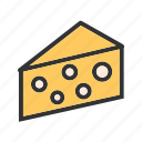 cheese, cheddar, appetizer, rural, breakfast, bread icon