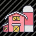 barnfarmbuildingfarmland, farmhouse, housebarn