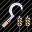 agriculture, farm, garden, sickle, tool